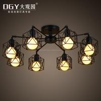 6 lights arms adjustable metal fixture modern bedroom ceiling led light