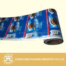Plastic plastic wrapper packaging film for biscuit bar wrapper,cookies wrappers