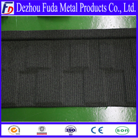 Corrugated metal roofing tile with sand coating