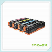 High quality CF380A , Compatible toner cartridge for HP CF380A CF381A CF382A CF383A , HP 312A toner cartridge