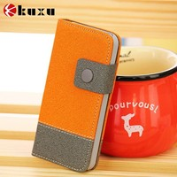 Factory leather flip case for iphone5s with reliable quality