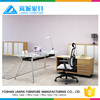Manager office table design glass panel executive office desk MS-01
