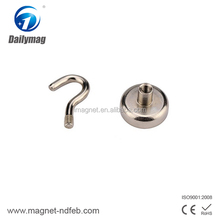 Customized Hard Ferrite Cup Magnet with Hole/Y35 Sintered Ceramic Magnet Pot