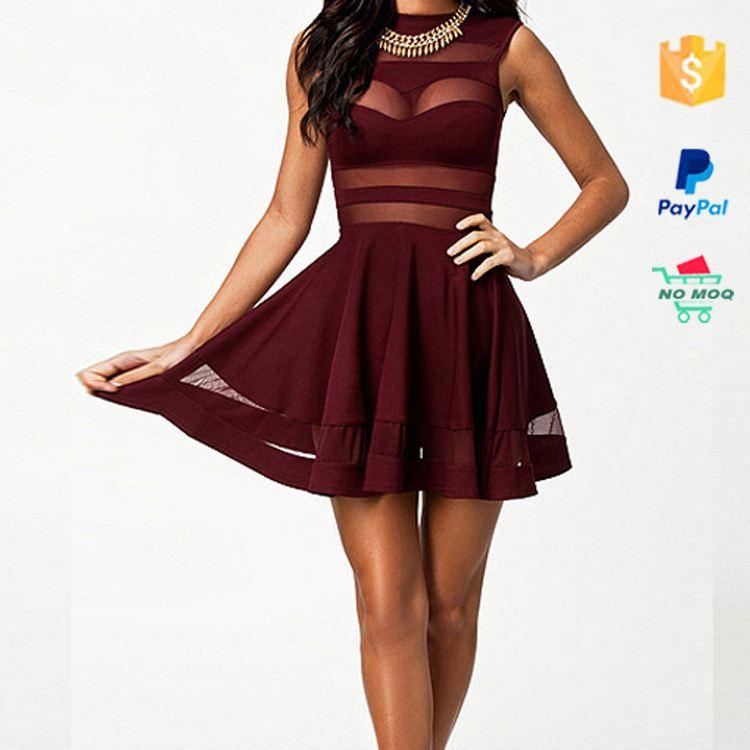 Короткие бордовые платья 61