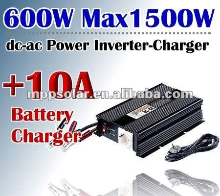 600w 12V AC to DC power inverter charger 10a battery charger