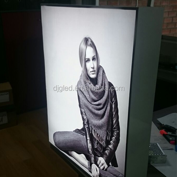 Custom advertising light box with graphic