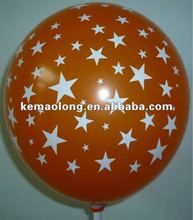 2012 new star all printed balloon,five side printed balloon