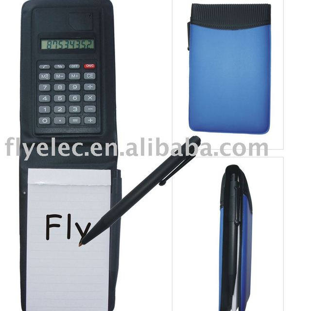 leather pocket notebook calculator