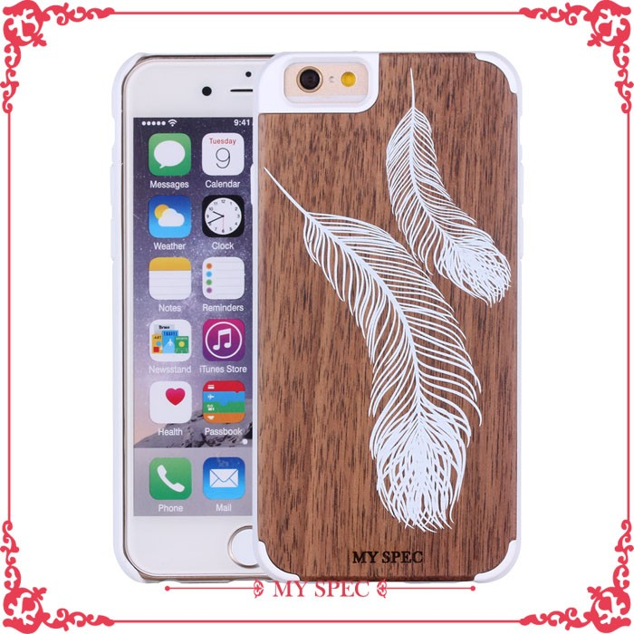hot new products for 2016 wooden phone mobile housing back wood case for iphone 6 plus