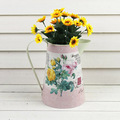 2015 paper decal metal flower watering can metal kids watering can