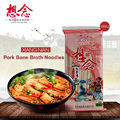 Pork Bone Broth Noodle 366g Instant Noodles with 6 Bone Broth Flavor Seasoning Bags Dry Noodle