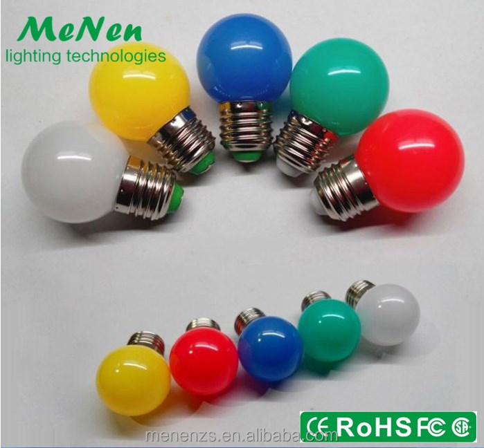 2017 Colorful G45 E26 e27 B22 1w Decorative G45 color led light bulb