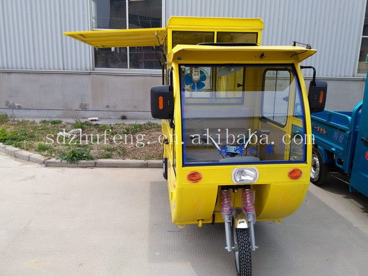 High performance electric tricycle rickshaw hot dog cart mobile food
