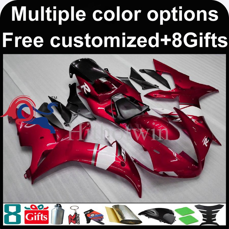 red motorcycle cowl for Yamaha YZF-<strong>R1</strong> 2002-2003 <strong>02</strong> <strong>03</strong> YZFR1 2002 2003 <strong>02</strong>-<strong>03</strong> ABS Plastic Fairing