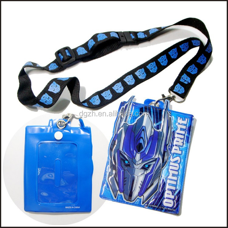 Promotionad gift polyester neck lanyards with pvc card bag