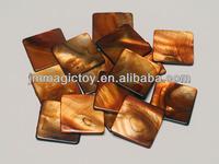 SA026 DIY Brown Square Decorative Sea Shell