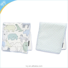 Printed cotton jersey and cotton terry absorbable burp rag towels