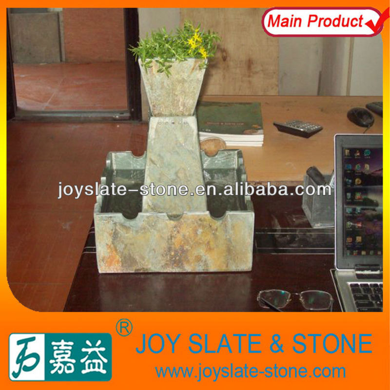 Exclusive Natural Slate Indoor Desk Water Fountain