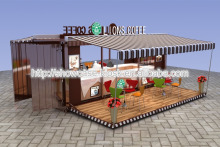 20 feet container coffee shop | customized container shop design | coffee shop interior design with real production pictures