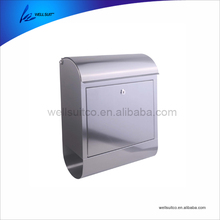 stainless steel waterproof wall mounted mailbox letterbox postbox newspaper holder for department