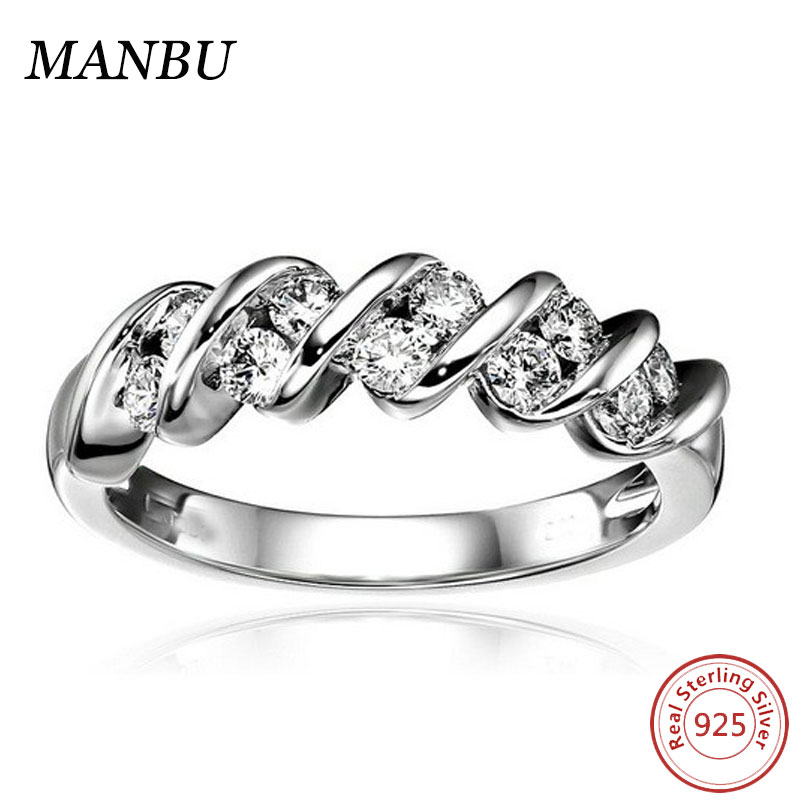 14k White Gold Diamond Stretch Wedding Anniversary Ring