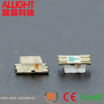 0605 Bi-Color red&yellow green LED SMT