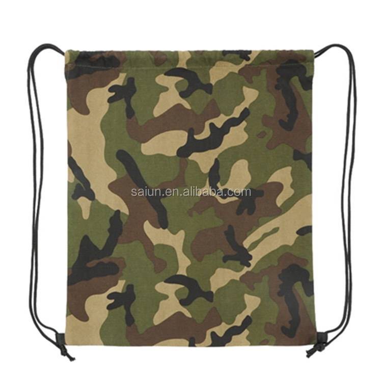 China supplier custom Camouflage Drawstring Bags;Camouflage Drawstring Backpacks;Camouflage Custom Drawstring Bag
