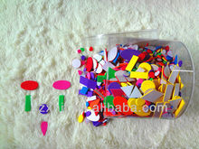 colorful adhesive foam geometric shapes