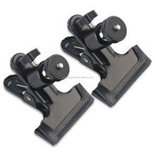"Rotating Camera Mount Spring Clamp with Ball Head Clamp Clip Holder Mount standard 1/4"" Screw Tripod Camera Mount"
