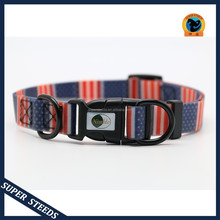 Dog Collar With Plastic Quick Release Buckle