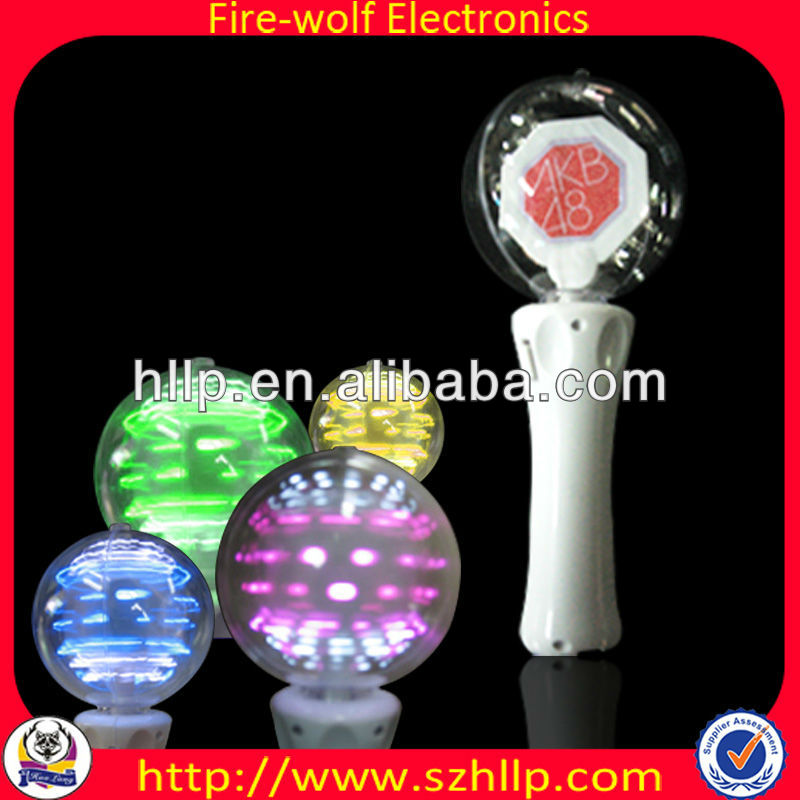OEM Magic plastic gift ball & white glowing spinning ball for party gift