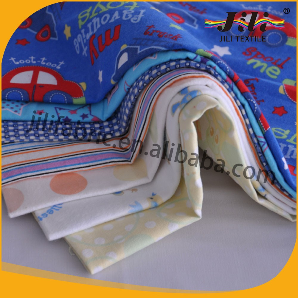wholesale 100% cotton flannel printed fabric