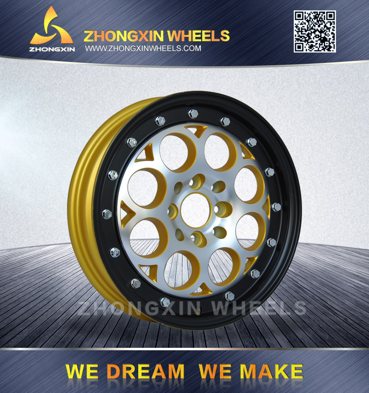 2017 New design Zhongxin KT009 15x3.5 Front Drag Race Revolver Aluminum Alloy wheel