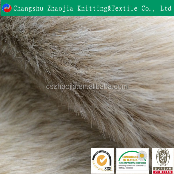 OEKO TEX China knitting textile factory 100% Polyester wholesale faux fur fabric for Garment