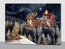 led canvas wall art christmas,wood picture frames wholesale