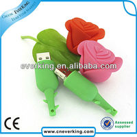 bulk cheap custom hot sale rubber rose usb flash drive