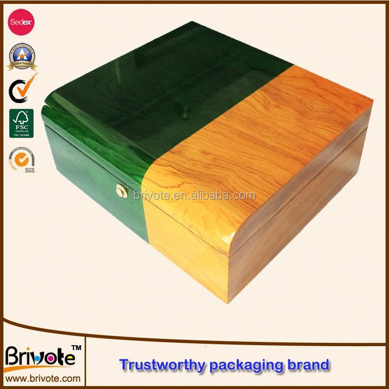 small wooden drawer storage box/thin wood box/gun wooden box