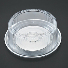 Custom & wholesale silver gold white black clear PET PS Blister packaging frozen food tray cheese cake box