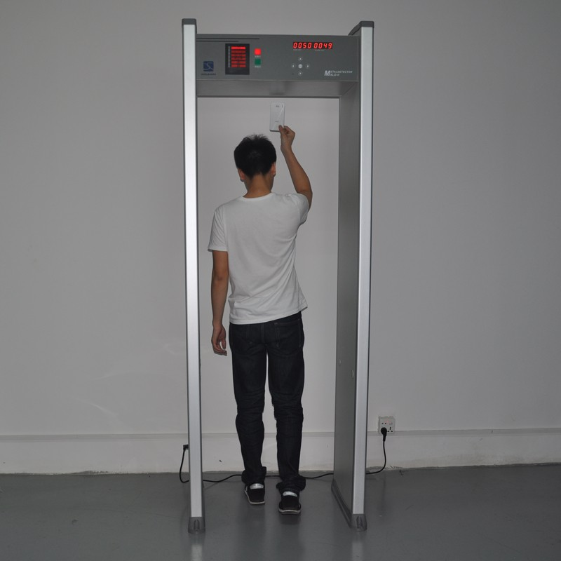 Best price 18 months warranty CE approved 6 zones walkthrough metal detector XLD-II