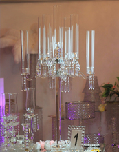 Beautiful luxury wedding table centerpieces 9 arms tall crystal candelabra for sale