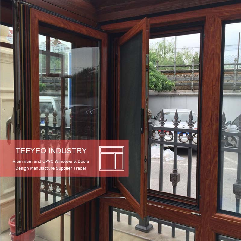 Teeyeo low price professional aluminium casement bay window