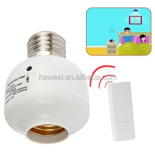 E27 Base Type Remote Control Lamp Holder, Load Power: 50W (Distance: 10m)