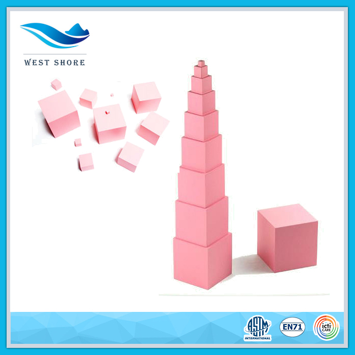 Educational indoor montessori material wooden toys for kids