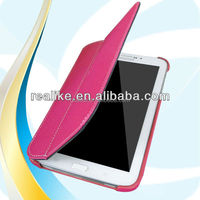 2014 New style waterproof folio genuine leather case for samsung galaxy tab 3 8.0 T310