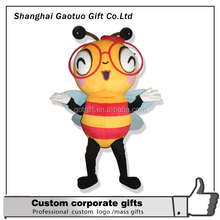promotional custom funny cartoon bee mascot costume for adult wearing