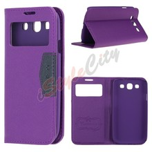 Smart View Leather Flip Case Cover For Samsung Galaxy S3 S4 S5 S6