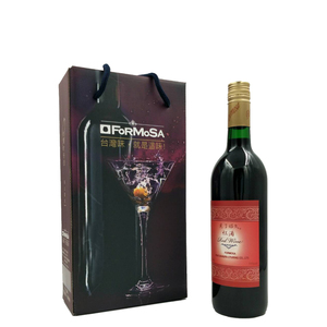HACCP 375ml 11% sweet red wine with cork glass bottle