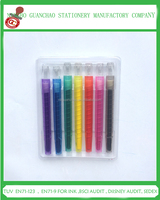 7 colors multi color small twist crayon for kids