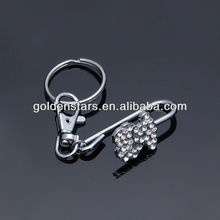 2013 Designer mini rhinetone bear finder key purse clip wholesales