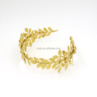 Gold leaves Tiara Flower Leaf Wedding Bridal Hair headband Accessories Princess Bride Crown for lady